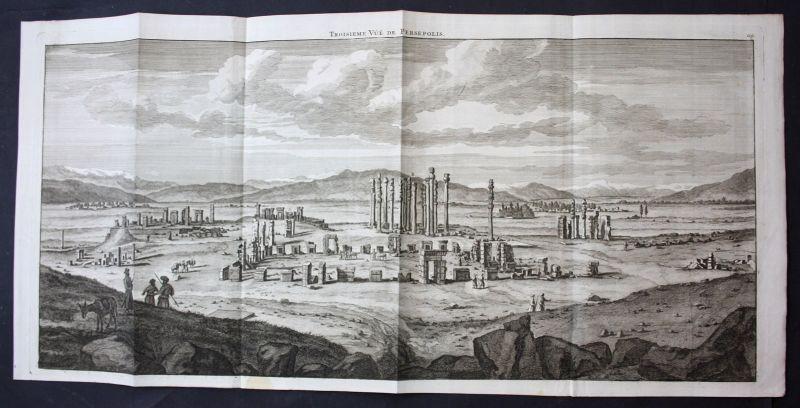 De Brujin Persepolis Iran Ansicht panorama view vue gravure Kupferstich 1718
