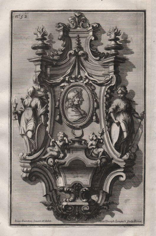 1720 frame Silber Rahmen silver silversmith design baroque etching Kupferstich