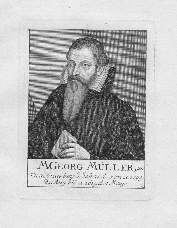 18. Jh. Georg Müller Diakon Theologe St. Sebald Sebalduskirche Nürnberg Portrait