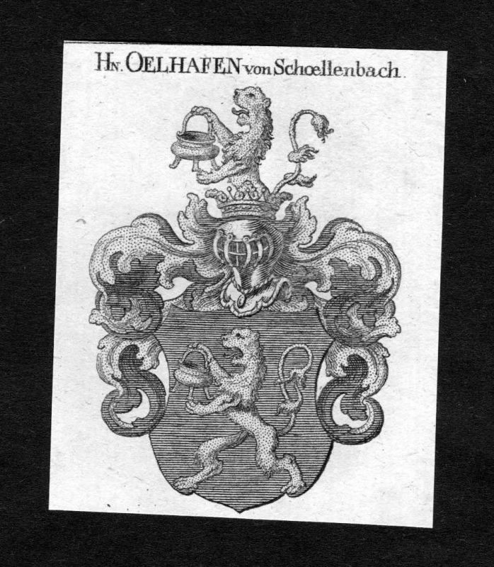 1820 - Oelhafen von Schoellenbach Schöllenbach Wappen Adel coat of arms H 125870