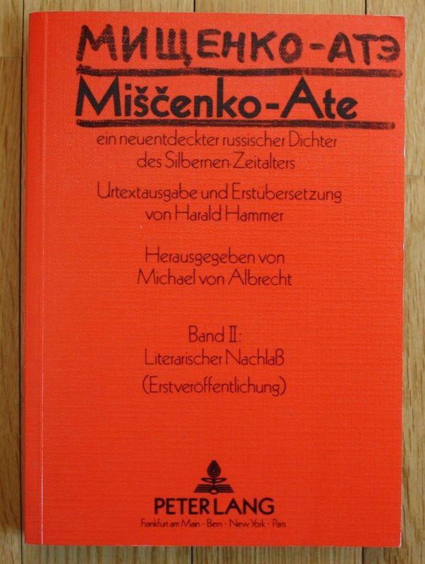 Albrecht - Miscenko -  Alte ein neuentdeckter russischer Dichter Russland 1988