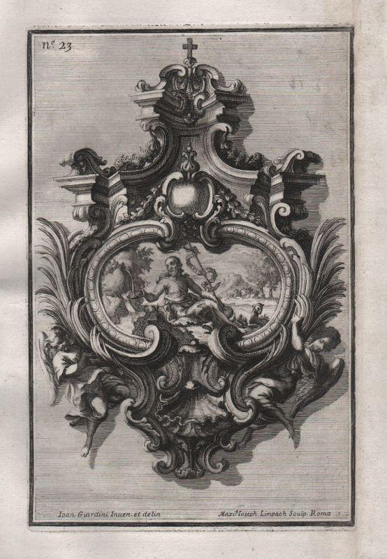 Frame angel Engel Rahmen Silber silver design baroque silversmith Kupferstich