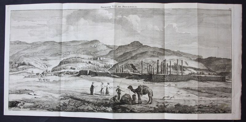 De Brujin Persepolis Iran Ansicht panorama view vue antiquity 1718