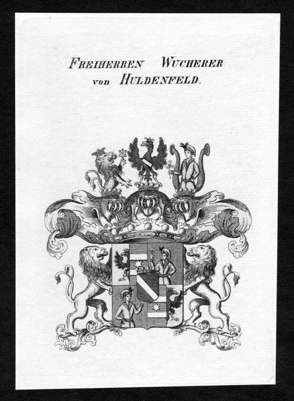 1820 - Wucherer von Huldenfeld Wappen Adel coat of arms heraldry Heraldik 127519