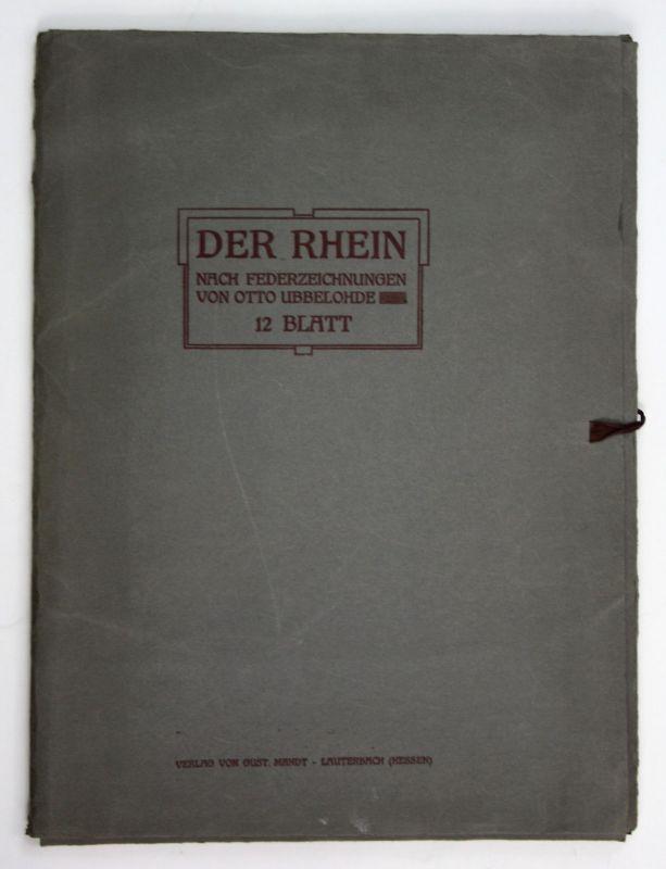 1910 Otto Ubbelohde Der Rhein Federzeichnungen Otto Ubbelohde 12 Blatt