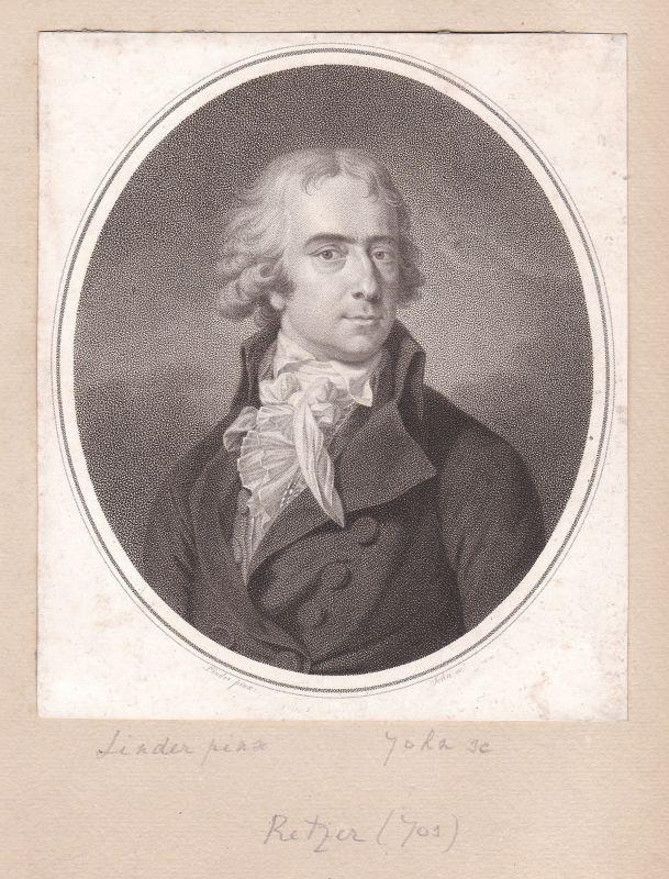 Joseph Friedrich Freiherr von Retzer Dichter Poet Portrait Kupferstich antique