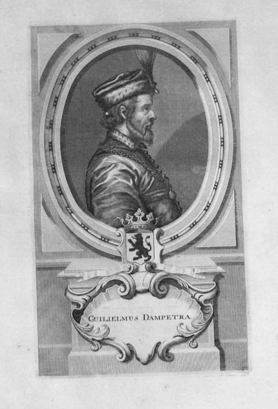 1735 - Wilhelm II. von Flandern Dampierre Portrait gravure engraving Kupferstich