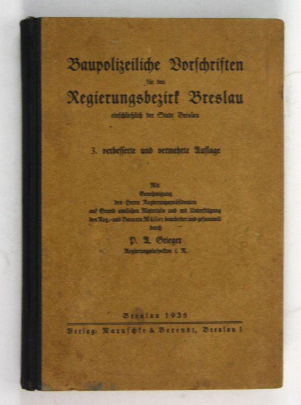 1936 Baupolizeiliche Vorschriften Regierungsbezirk Breslau Polen Polska Wroclaw