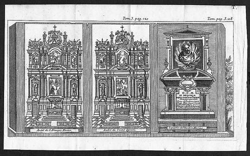 1700 - Napoli incisione engraving Kupferstich  acquaforte carta veduta 54698