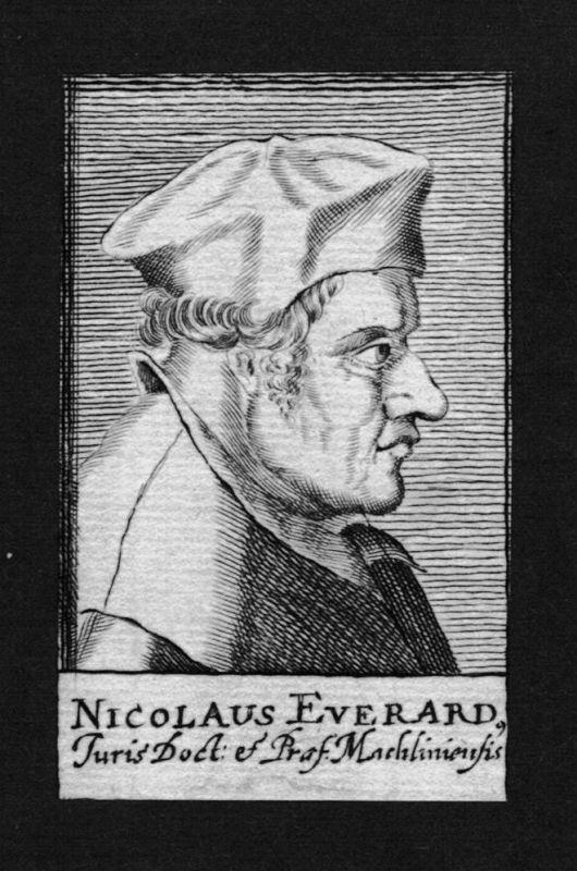 1680 - Nicolaus Everardus Jurist lawyer Holland Nederland Kupferstich Portrait