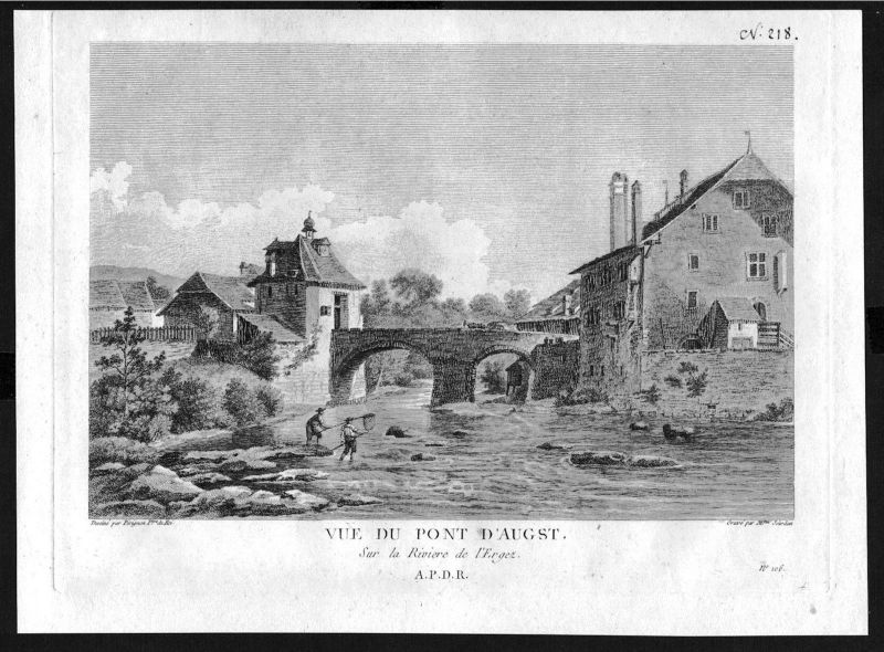 1780 - Augst Liestal gravure Kupferstich Zurlauben