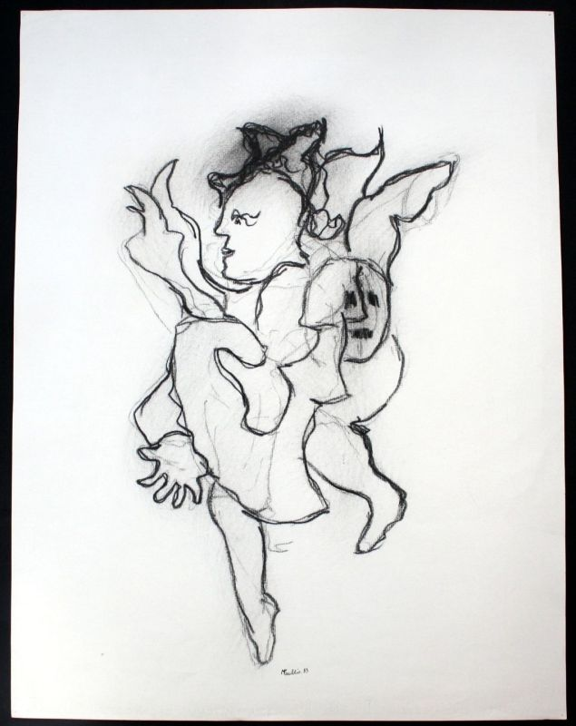 1983 - Michel Faublee - Original Zeichnung drawing signiert signed