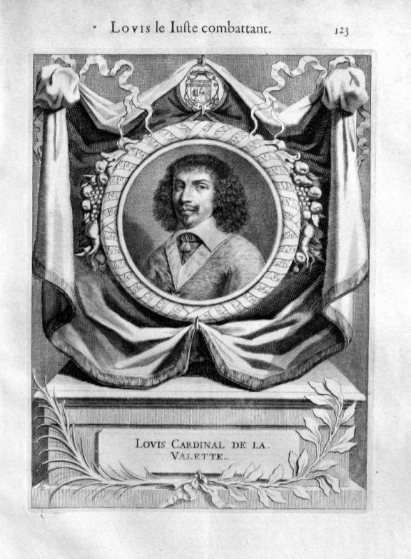 1720  Louis de Nogaret de la Valette d'Epernon Portrait gravure engraving