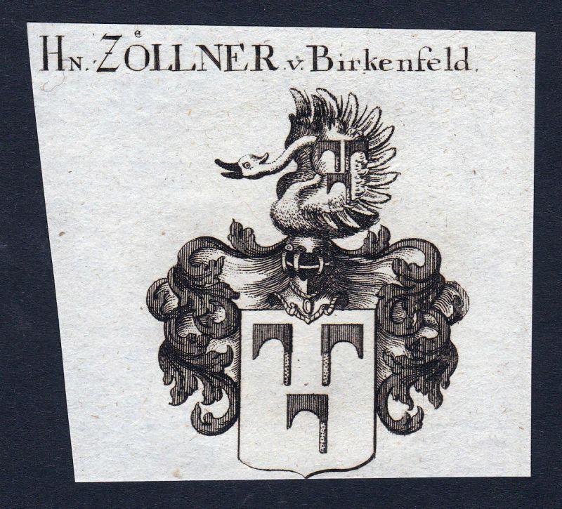 1820 Zöllner Zoellner Birkenfeld Wappen Adel coat of arms Kupferstich engraving