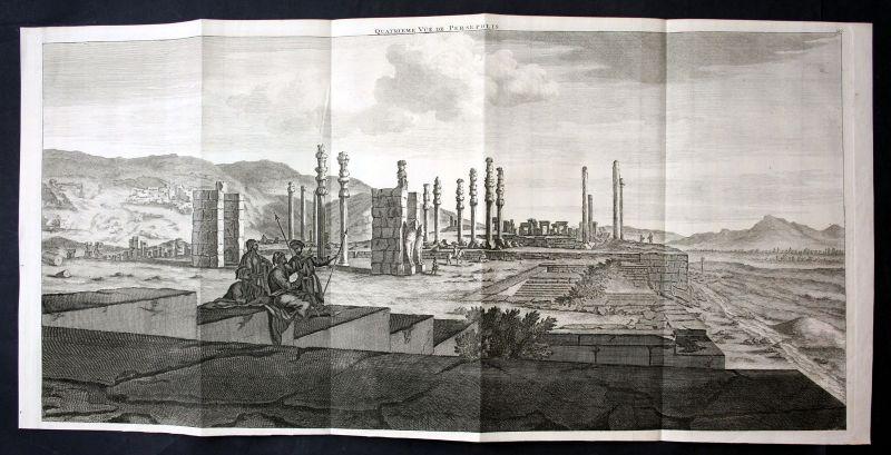 De Brujin Persepolis Iran Ansicht panorama view vue antiquity Kupferstich 1718