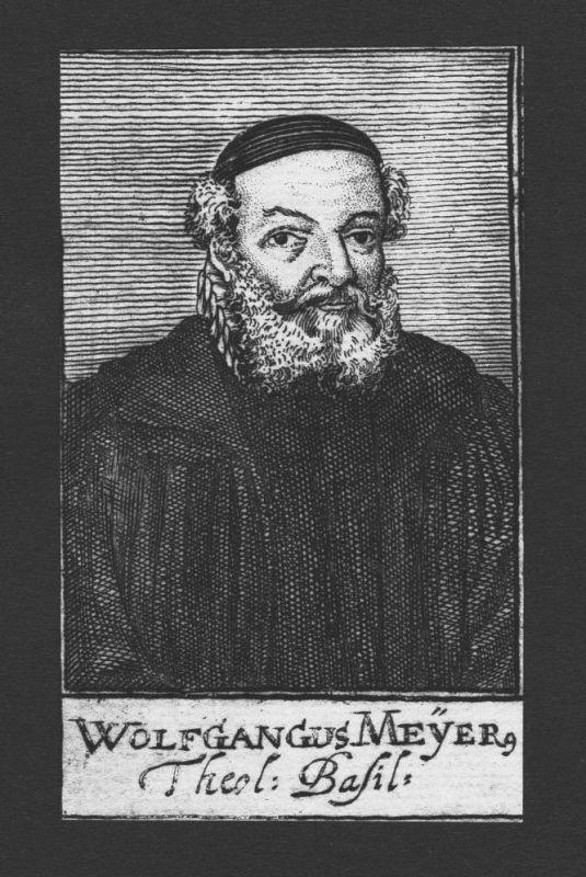 1680 - Wolfgang Meyer Theologe Basel St. Alban Schweiz Kupferstich Portrait