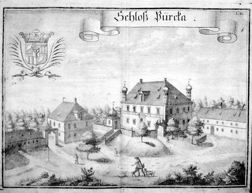 1720 Pirka Steinkirchen Erding Oberbayern Kupfer Wening