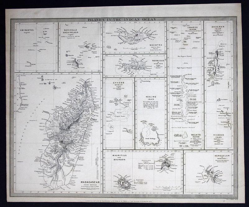 India Indien Amiranten Amirantes Madagaskar Madagascar SDUK Karte map