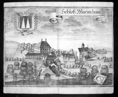 1720 - Wurmsham Landshut Niederbayern Kupfer Wening