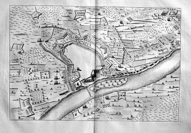 1740 - Negrepelisse Tarn-et-Garonne Pyrenees gravure engraving