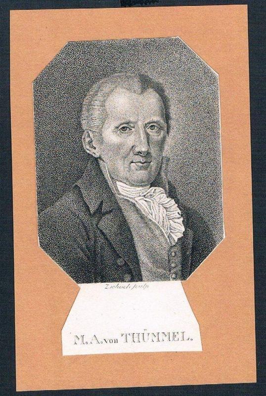1800 - Moritz August von Thümmel Schriftsteller Kupferstich Portrait engraving