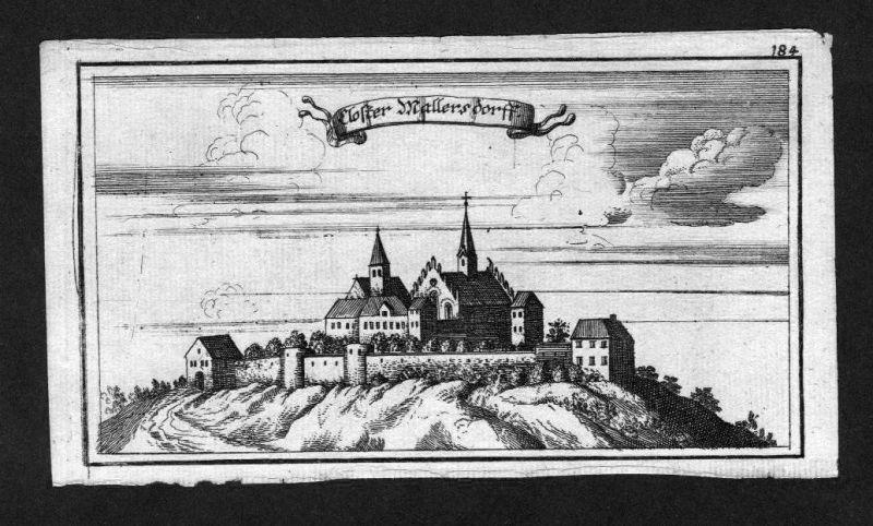 1700 - Mallersdorf Kloster Niederbayern Bayern Original Kupferstich Ertl