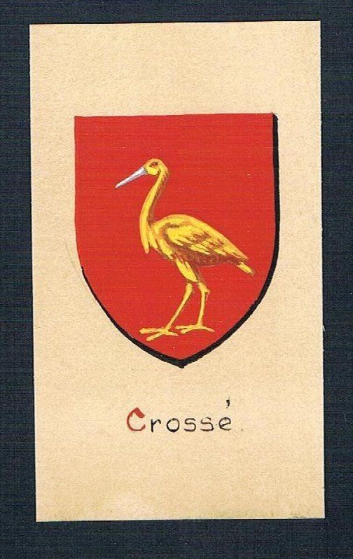 19./20. Jh. - Crossé Blason Aquarelle Heraldik coat of arms heraldique