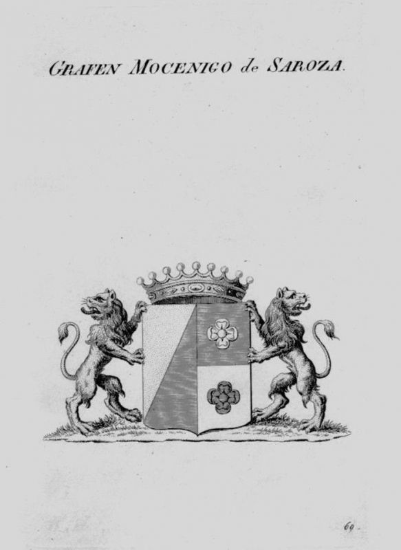 1820 - Mocenigo de Saroza Wappen Adel coat of arms heraldry Heraldik crest