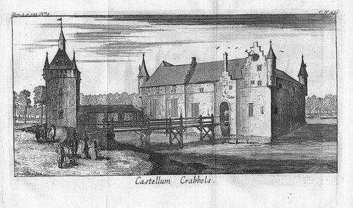 1700 - Krabbels Kasteel Zandhoven Antwerpen gravure Kupferstich gravure Belgique