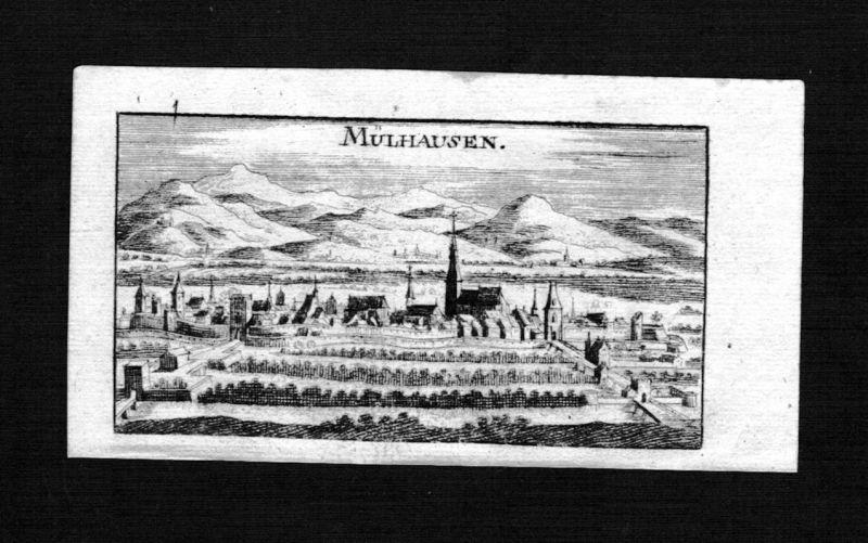 1690 - Mülhausen Mulhouse Elsass Alsace Frankreich gravure Kupferstich Riegel