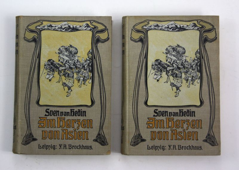 1914 Sven Hedin Im Herzen von Asien Zehntausend Kilometer 2 Bände Tibet Reise