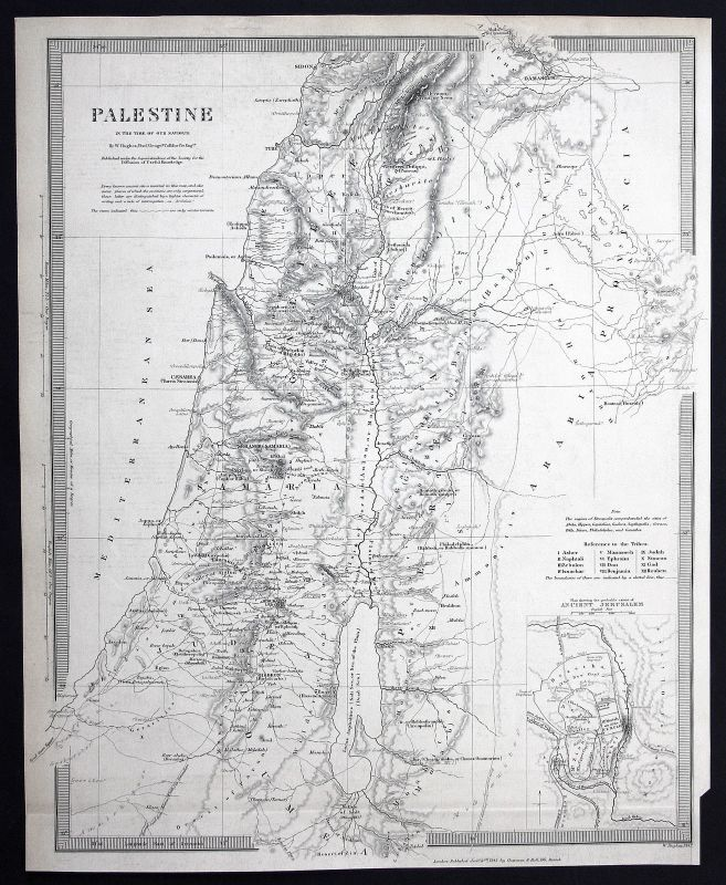 Palestine Palästina Judäa Samarien Samaria Mediterranean Sea SDUK Karte map