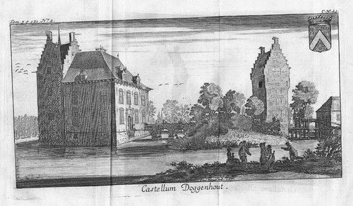 1700 - Kasteel Doggenhout Ranst Belgique Kupferstich gravure Belgique