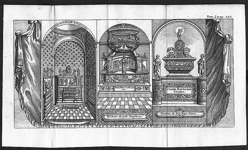 1700 - Napoli incisione engraving Kupferstich  acquaforte carta veduta 54691