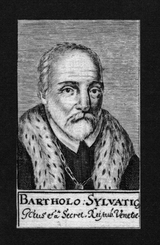 1680 - Bartholomäus Sylvaticus Jurist lawyer Professor Kupferstich Portrait