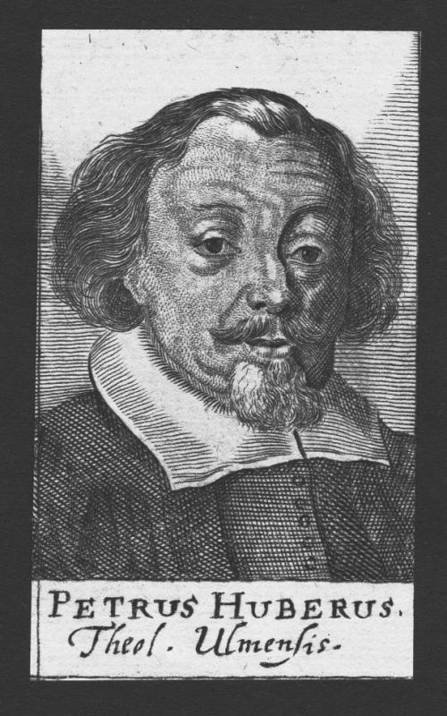 1680 - Peter Huber Theologe Professor Ulm Nürnberg Kupferstich Portrait