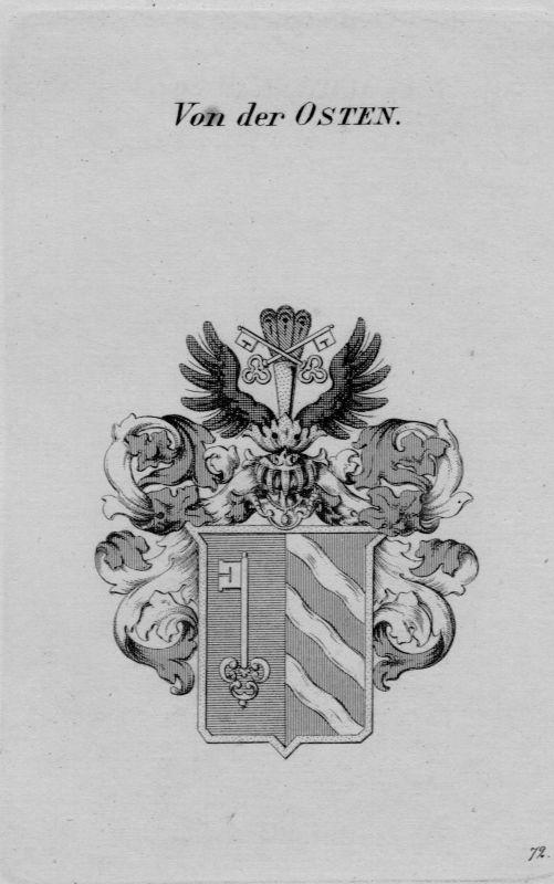 1820 - Osten Wappen Adel coat of arms heraldry Heraldik crest Kupferstich