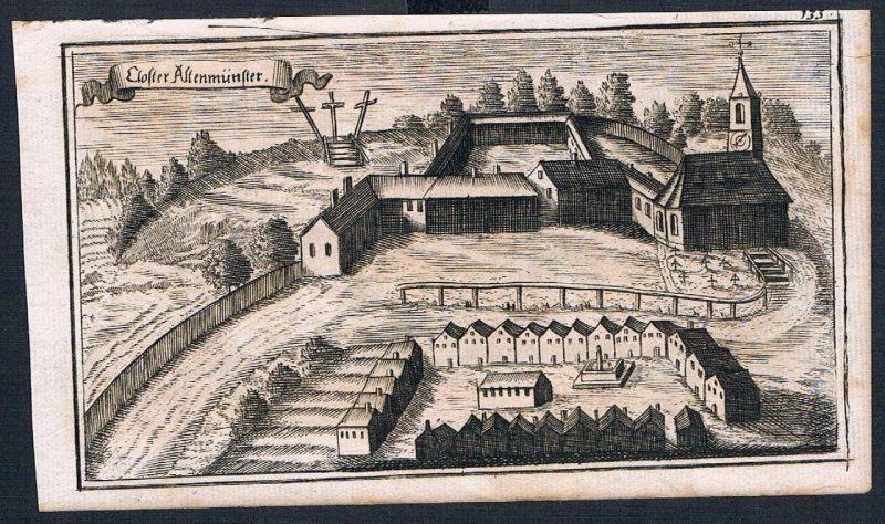 1705 - Kloster Altomünster Lk Dachau Ertl Original Kupferstich engraving