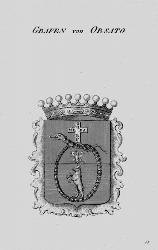 1820 - Orsato Wappen Adel coat of arms heraldry Heraldik crest Kupferstich