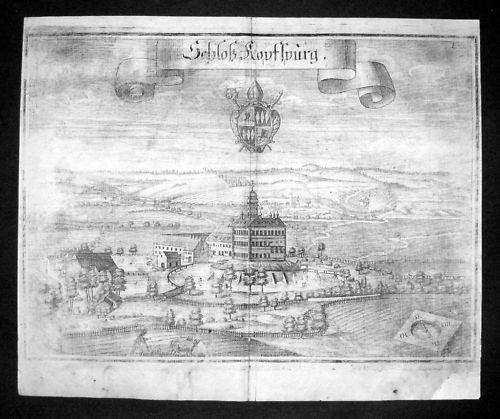 1720 Kopfsburg b Dorfen Erding Oberbayern Kupferstich Wening