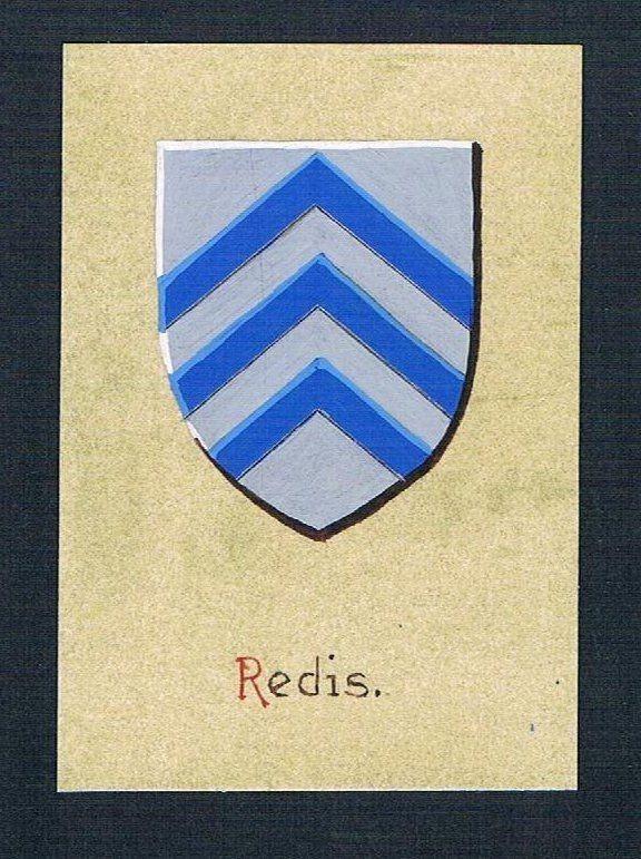 19./20. Jh. - Redis Blason Aquarelle Heraldik coat of arms heraldique