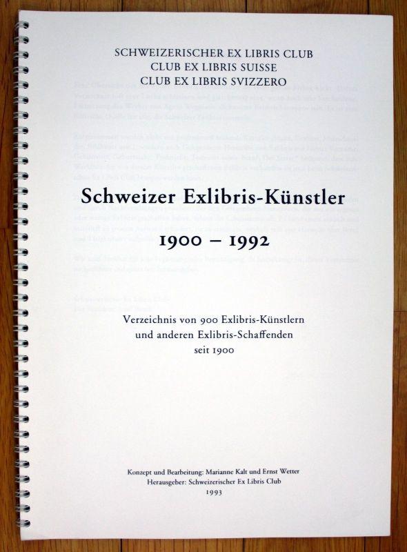 1993 Verzeichnis Schweizerischer Ex Libris Künstler seit 1900 Exlibris
