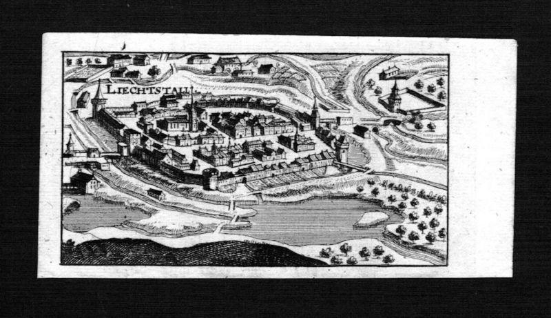1690 - Liestal Gesamtansicht Schweiz Suisse gravure Kupferstich Riegel