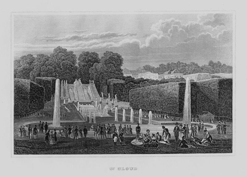 1840 - Saint-Cloud Paris Ile-de-France Hauts-de-Seine Frankreich France gravure