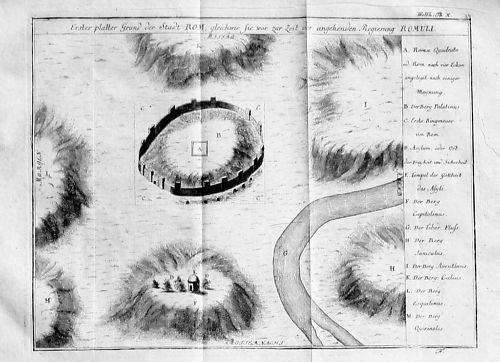 1750 - Roma Rom Rome incisione Original Kupferstich acquaforte veduta