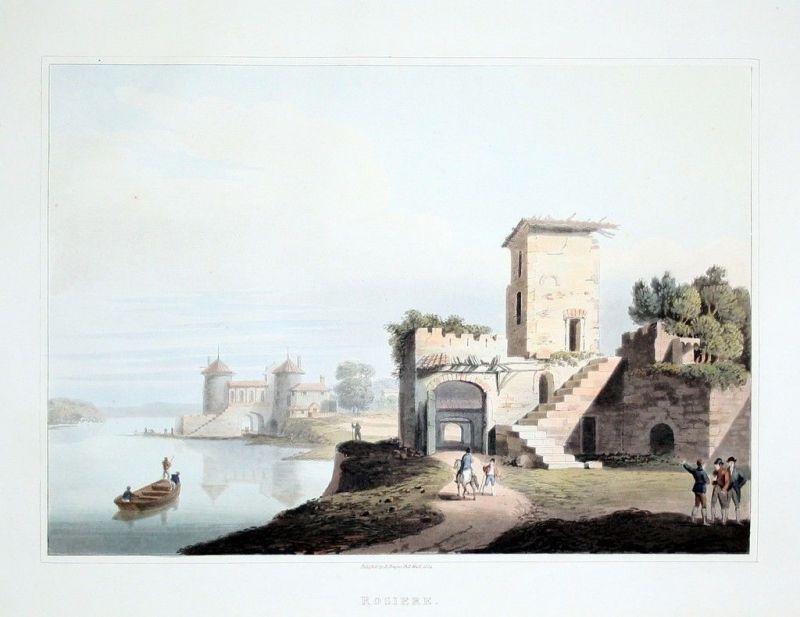 1814 - La Rosiere Aquatint Original Aquatinta aquatint antique print