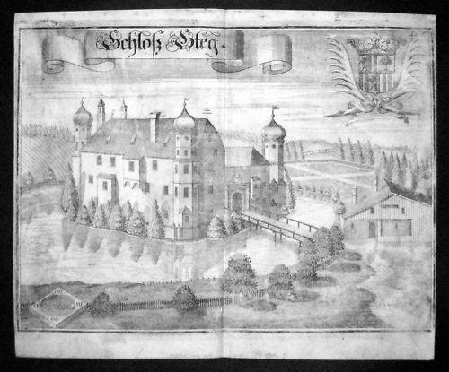 1720 - Schloss Steeg Buchbach Oberbayern Wening