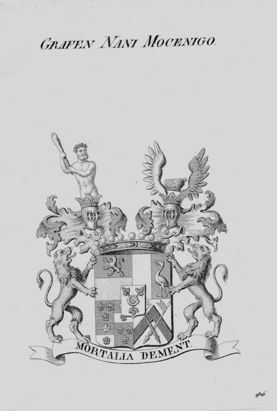 1820 - Nani Mocenigo Wappen Adel coat of arms heraldry Heraldik Kupferstich