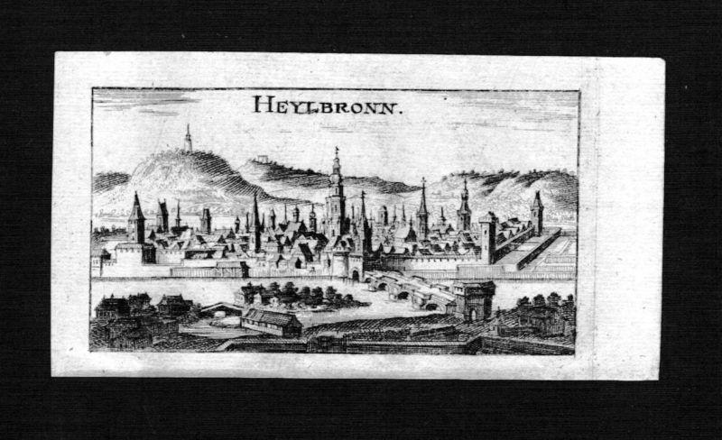 1690 - Heilbronn Gesamtansicht Kupferstich Riegel