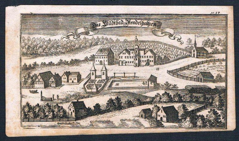 1705 - Bad Adelholzen Siegsdorf Ertl Kupferstich engraving